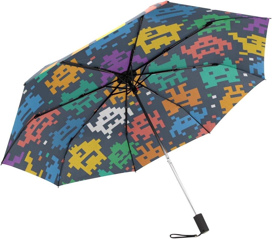 "New Susino Blocks Character Small Travel Compact Umbrellas Windproof 11/"" Folding Umbrella Lightweight"