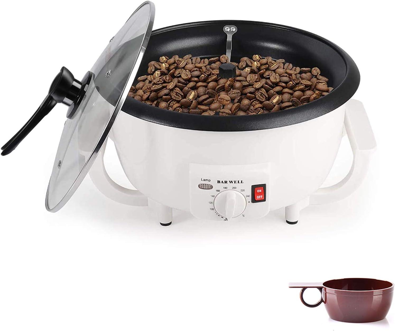 Upgrade Coffee Roaster, 750g Electric Coffee Bean Roaster Machine, 110V 1200W Non-Stick Nut Peanut Cashew Chestnuts Household Coffee Bean Roasting Machine (without Timing)