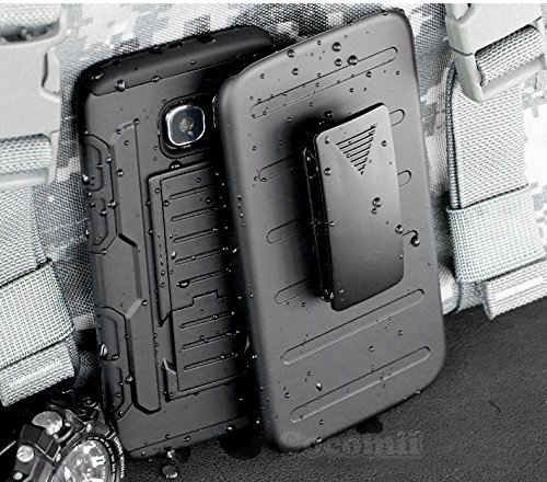 Galaxy S7 Active Case, Cocomii Robot Armor NEW [Heavy Duty] Premium Belt Clip Holster Kickstand Shockproof Hard Bumper Shell [Military Defender] Full Body Dual Layer Rugged Cover G891 (Black) Black Rugged Holster