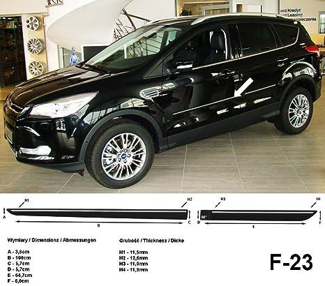 Spangenberg Listones de protección Lateral Negro para Ford Kuga II SUV Combi 2. generación a