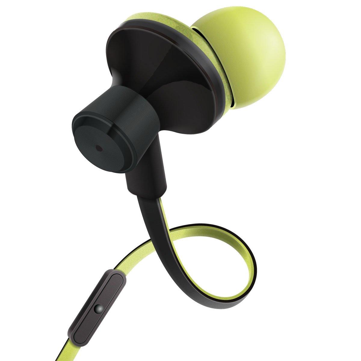 Para Huawei P8 Lite Moto G BQ Aquaris Samsung Galaxy J5 J7 iPhone 6 7 DOOGEE y m/ás Gogroove Auriculares Intrauriculares Cascos In Ear Fitness Deporte Auriculares Cancelaci/ón de Ruido y Micr/ófono