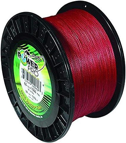 Power Pro Micro Braid Fishing Line 21100500300v 50 LB X 300 Yd Vermillion Red for sale online