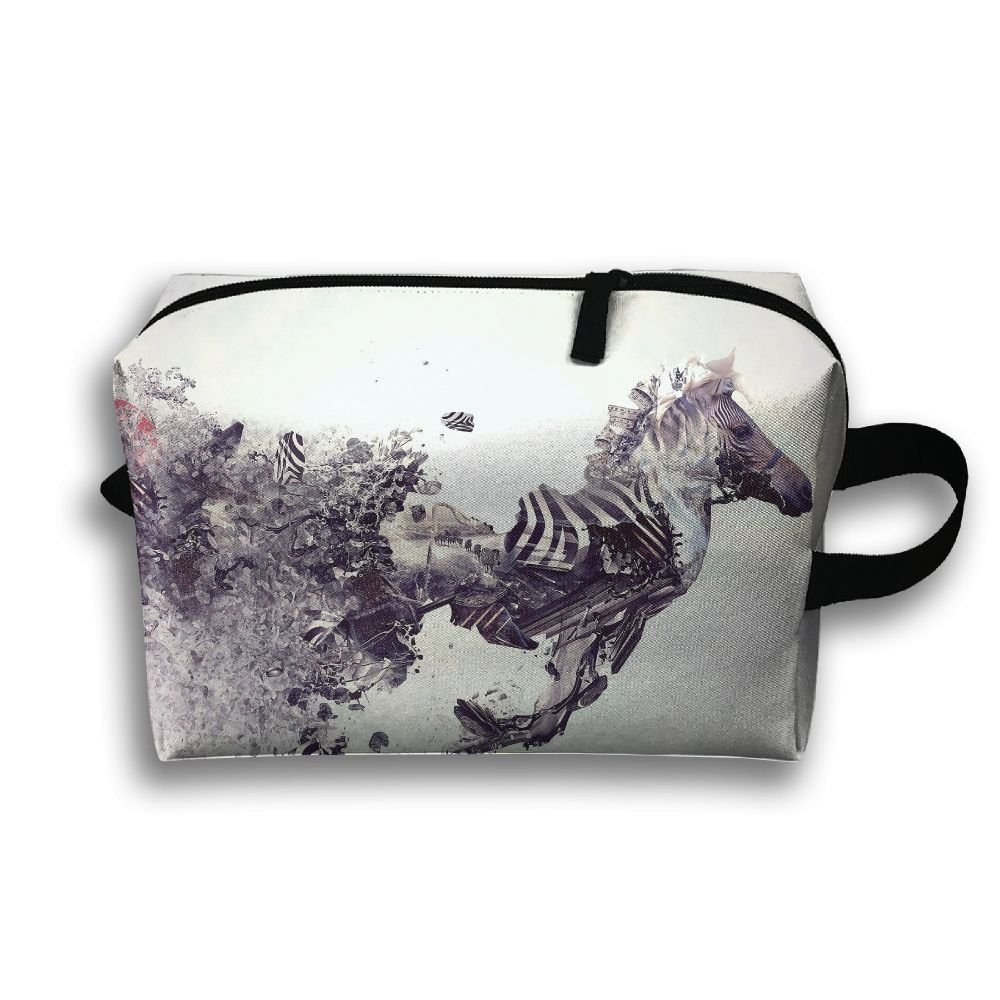 35f7ae0353 LEIJGS Animated Cool Horse Abstract Art Small Travel Toiletry Bag Super Light  Toiletry Organizer For Overnight
