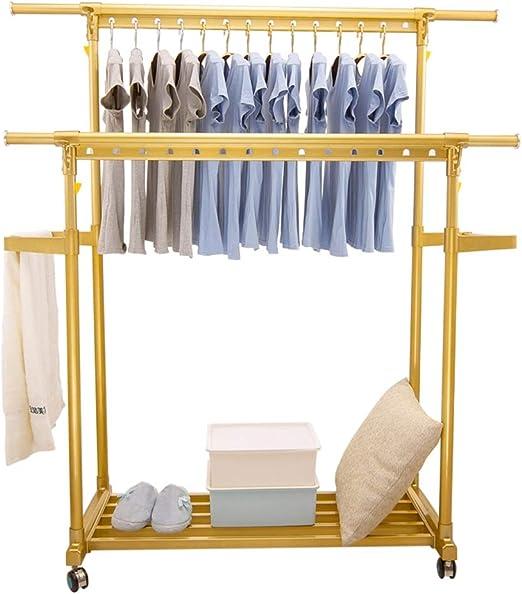 DUO Percheros Rack de secado de ropa, Rack de secado de lavandería Escalera de tijeras Racks