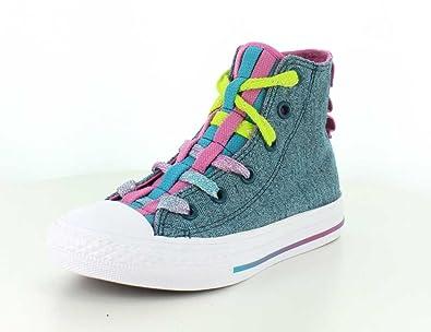 6a5109676216 Converse Kids Chuck Taylor All Star Loopholes Hi Shadow Teal Aegean Aqua White  Sneaker