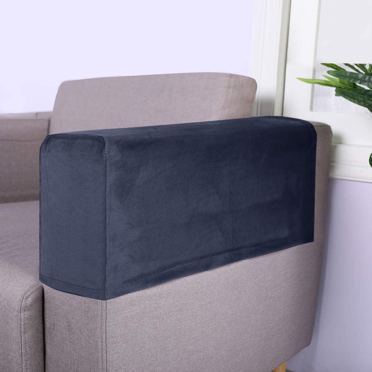 VOSAREA 2 Pcs Tissu Extensible Accoudoir Couvre Anti-D/érapant Meubles Protecteur Fauteuil Housses pour Fauteuils Inclinables Chaises Beige