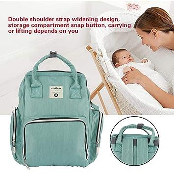 Zerodis Bolsa de Pañales Multifuncional a Prueba de Agua Mochila de Viaje Bolsas de Pañales para el Cuidado del Bebé de Gran Capacidad Elegante y Duradero ...