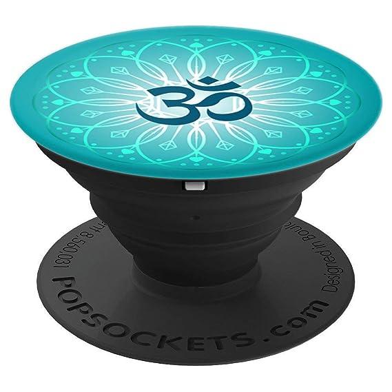 Amazon Teal Yoga Sanskrit Om Lotus Flower Mandala Popsockets