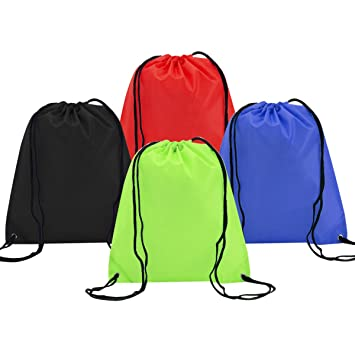 4 Pack Mochila Saco Bolsas de Cuerdas de Deporte Coolzon® Bolso Gimnasio de  Nylon Gymsack 90c5f32d3fb9f