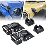Xprite Aluminum Hood Latches Catch Kit with U.S. Flag Style for Jeep Wrangler JK JKU 2007-2018 & 2018-2020 Jeep Wrangler…