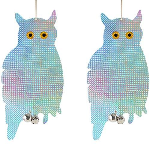 Bird Blinder Reflective Hanging Owl - Pest Repellent Control (2 Pack) ()