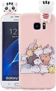 EuCase Funda para Samsung S7 Edge Silicona 3D Dibujos Carcasa ...