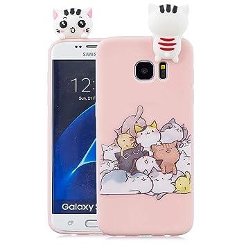 EuCase Funda para Samsung S7 Edge Silicona 3D Dibujos Carcasa Samsung S7 Edge Antigolpes Suave TPU Flexible Goma Ultra Delgada Cubierta Protector ...