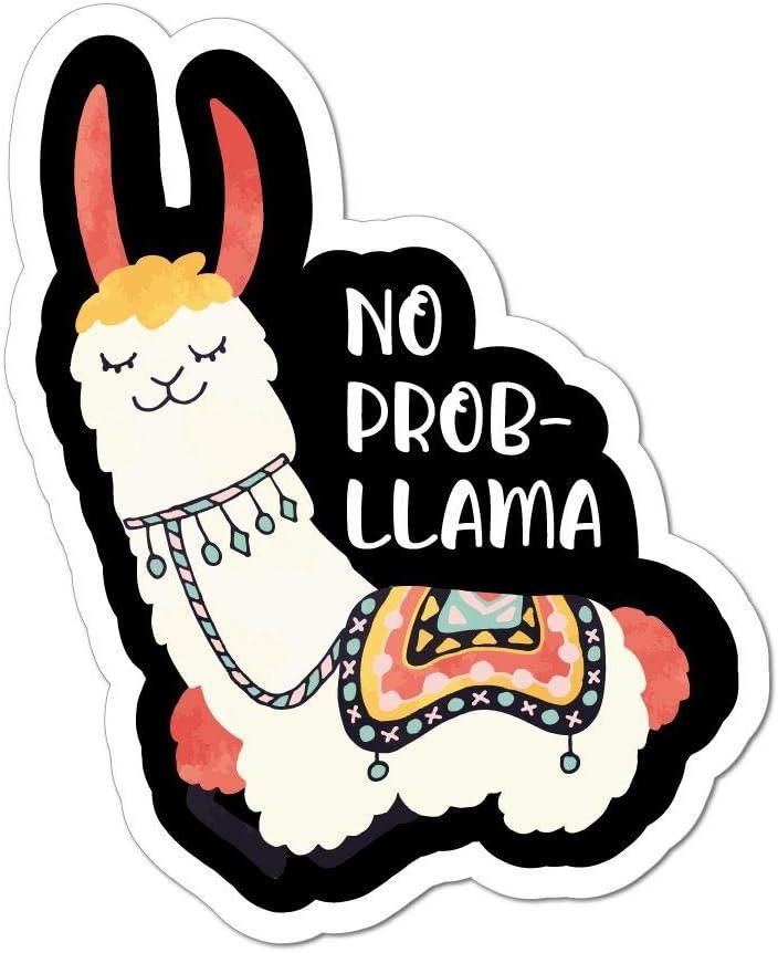 No Prob Llama Car Sticker Decal Funny Cute Pun Animal Witty No Worries