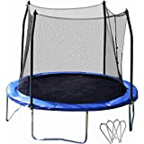 10-Round-Trampoline-and-Safety-Enclosure-Combo-with-Windstakes-Black