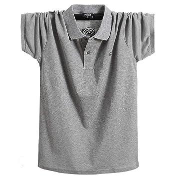 NISHISHOUZI Camisa De Polo De Los Hombres,Verano Mens Polo Gris ...