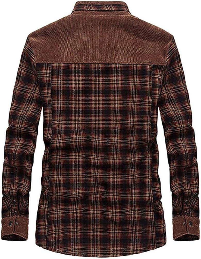 BOLAWOO Camisas abrigadas para Camisa para Hombres Hombres térmica Camisa Mode De Marca de Franela Chaqueta de Invierno Forro Polar Forro Protector Camisa de leñador Camisa de Trabajo: Amazon.es: Ropa y accesorios