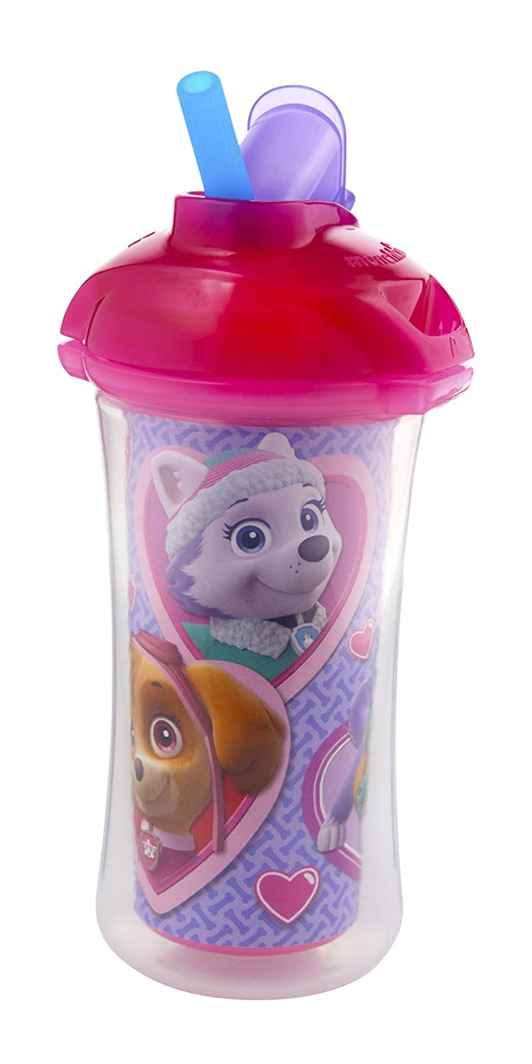 Munchkin Paw Patrol Click Lock 9-Ounce Insulated Straw Cup Pink 15962