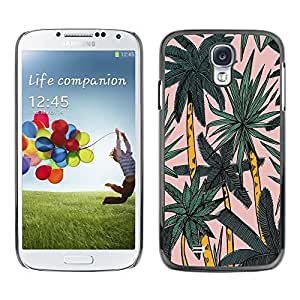 Estuche Cubierta Shell Smartphone estuche protector duro para el teléfono móvil Caso Samsung Galaxy S4 I9500 / CECELL Phone case / / Palm Tree Miami Watercolor Palms Tropical /
