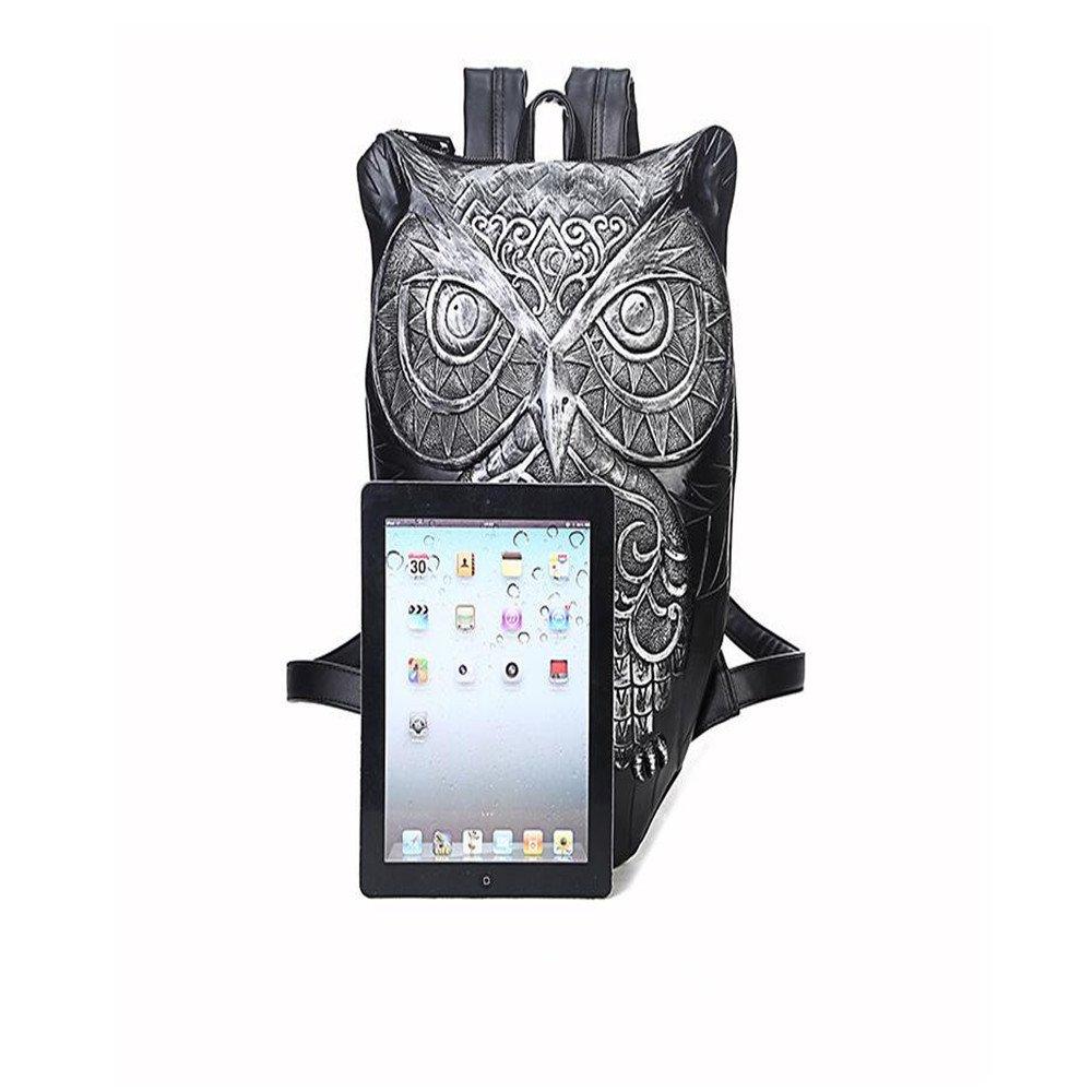 Amazon.com | UniquQ Owl Fashion Design Men travel Backpacks 3D Animal Bookbag School Bags for Day Pack Mochila Escolar (black) | Kids Backpacks