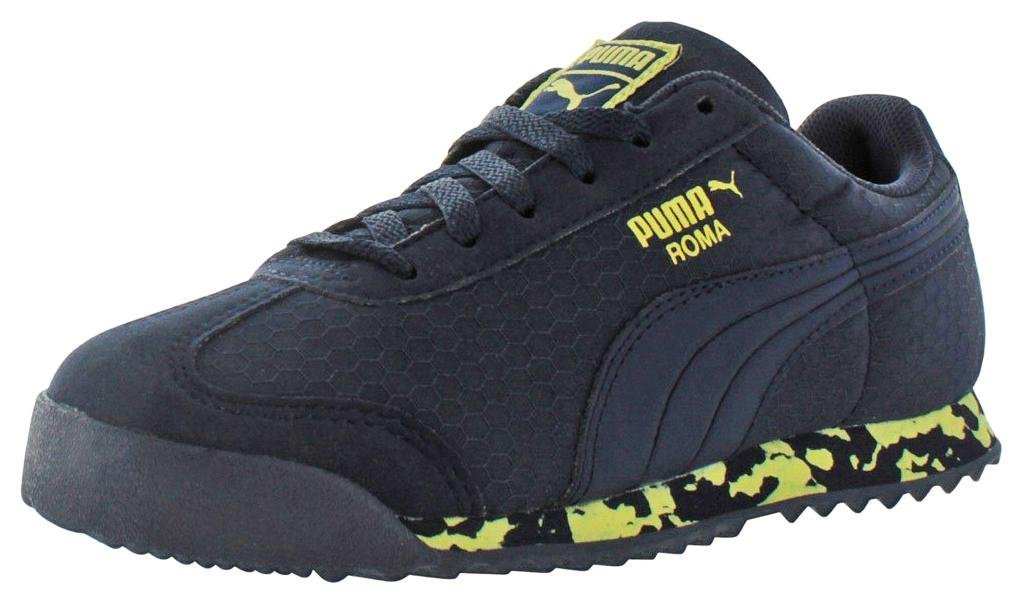 PUMA Kids' Roma MS Print Inf-K, Peacoat/Limelight, 5 M US Toddler by PUMA (Image #1)