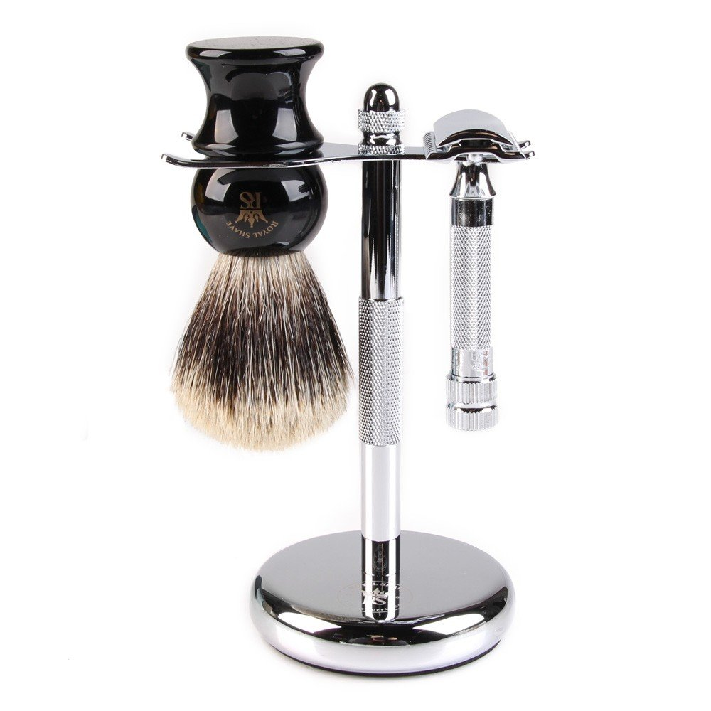Merkur 34C 3 Piece Classic Wet Shaving Gift Set by Royal Shave