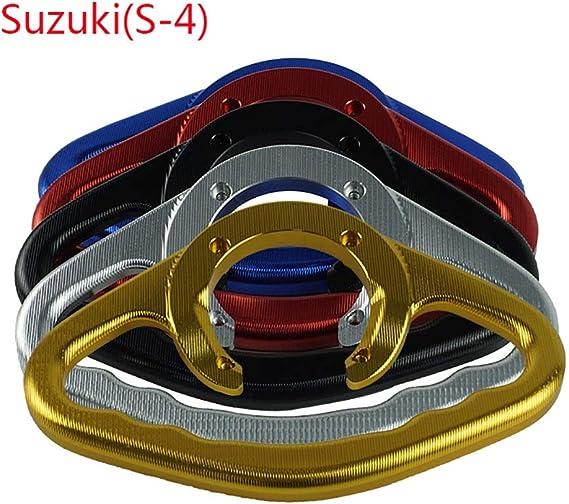 ZHENDA Para Suzuki GSXR400 600 750 1000 1100 SV650 CNC Aluminio Motocicleta Asideros de pasajeros Agarre manual Tanque Asidero Barra Asas Apoyabrazos Color : Azul