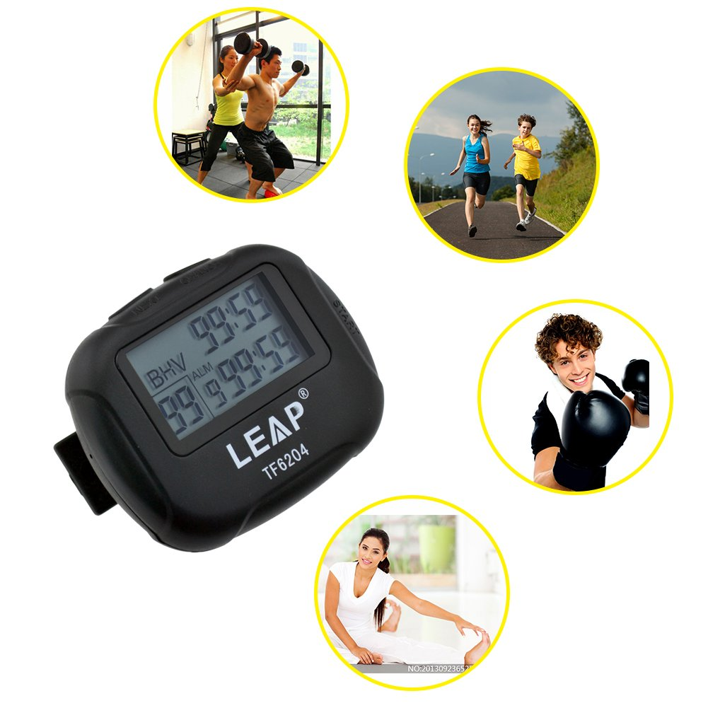 CkeyiN Interval Timer Best Digital Sports Stopwatch Countdown LCD Clock for Crossfit,Tabata,Yoga,Hilt,Cardio,MMA//Boxing,Kettlebell,Weight lifting,Running,Stretch,and Other Sports Trainings