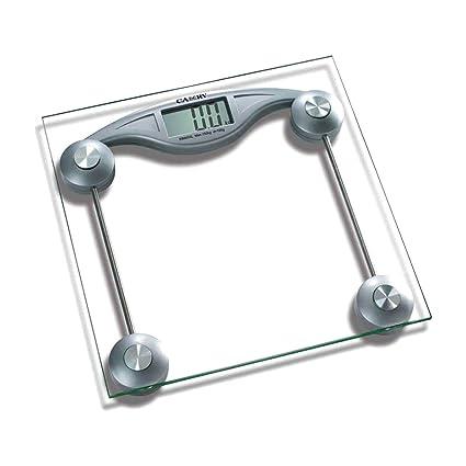 Cisne 2013, S.L. Bascula de Baño Digital Cuadrada diseño Transparente con pantalla LCD