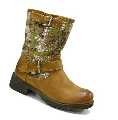 super popular 25ff7 8cfe3 Schuh-City Women's Biker Boots Beige Size: 7: Amazon.co.uk ...