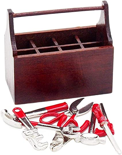 1:12 Escala Miniatura Metal Herramientas De Mano Accesorios De Casa De Muñecas dsu 5 un