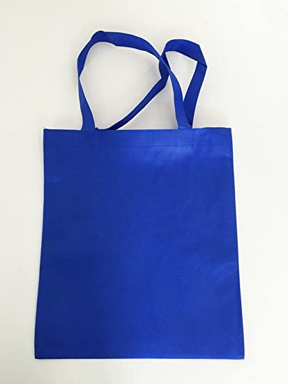 Amazon.com  (Set of 12) Eco Plain Non Woven Polypropylene Tote Bags ... 6e0bfdf756aaf