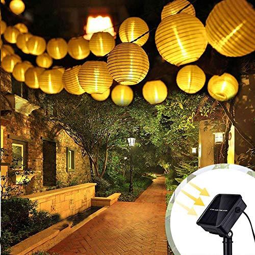 ALOVECO Solar String Lights Outdoor Lanterns 6.5m/21.3fts 30 LED Waterproof Outdoor Solar Lights Garden Chinese Lantern, String Lights Fairy Lights for Party Christmas Garden Yard?Warm White?