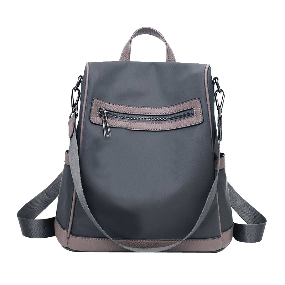 Grey One Size Oxford Cloth Backpack Fashion Waterproof School Bag Multifunctional Casual Shoulder Bag For Womens Girls