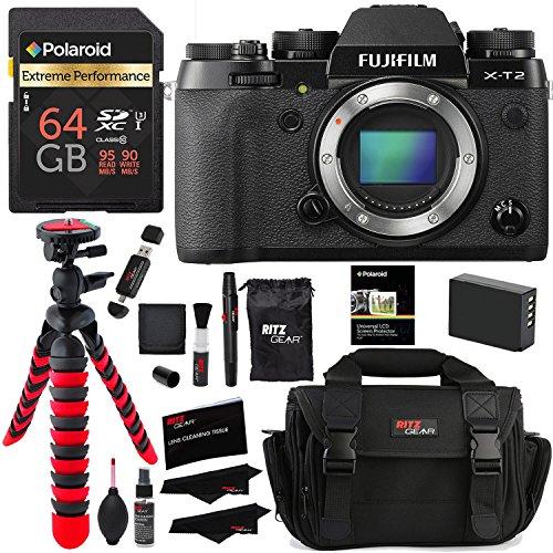 Fujifilm X-T2 Mirrorless Digital Camera , Polaroid 64GB,