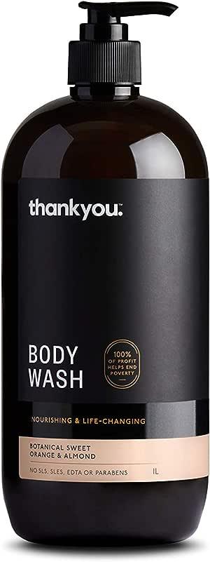 Thankyou Body Wash Botanical Sweet Orange & Almond - Nourishing, 1L (more options available)