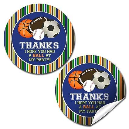 Amazon.com: Pegatinas de agradecimiento para cumpleaños de ...