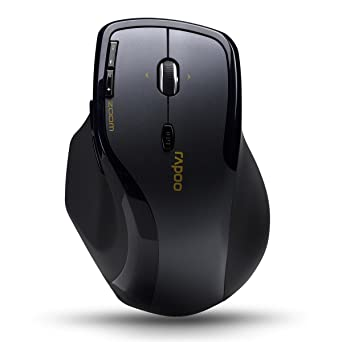bbdcce8c70c Amazon.com: Rapoo 2.4GHz Wireless Optical Gaming Mouse (7600+ Dark Gray):  Video Games