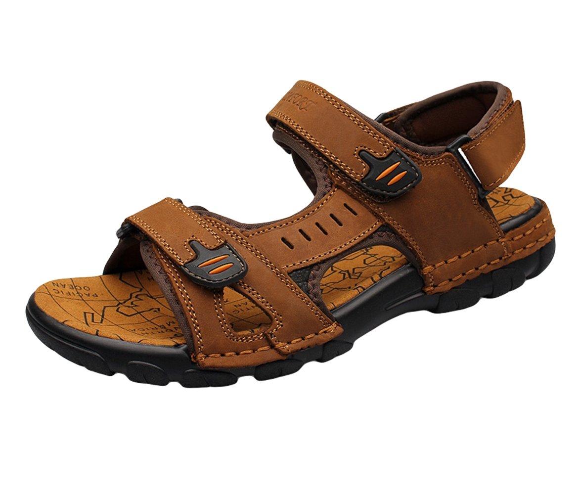 SK Studio Sandalias de Cuero Casual para Hombre Zapatos 41 EU|Marrón