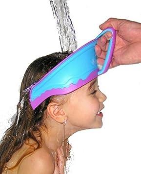 Babywanne Sichere Baby Dusche Kappe Kinder Bad Hut Einstellbar Schützen Augen Haar Waschen Kinder Wasserdichte Kappe