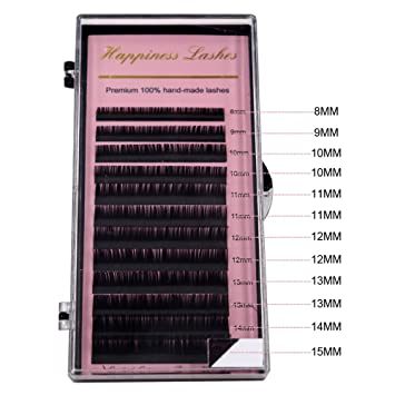 e7cebc11e61 Amazon.com : Eye Lash Extension Individual Lashes Classic Eyelash Extension  Korea Silk Volume Lashes For Eyelash Building 0.03 B Mix Length 8-15 mm  HPNESS : ...