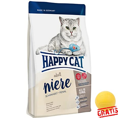 Happy Cat Riñón schonkost renal hcsn + Ball gratis Gatos en Crónica Riñón insuffizienz