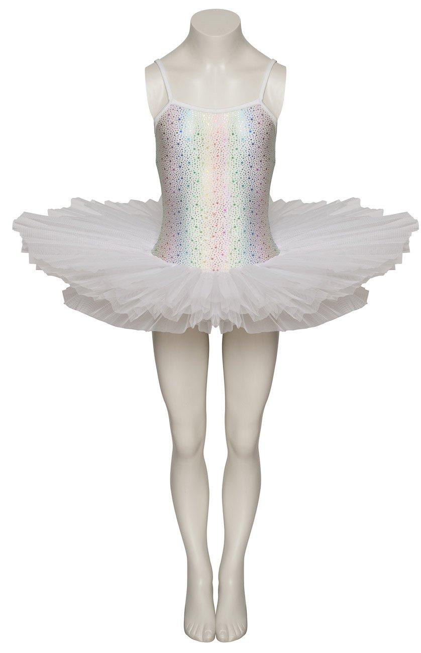 226819a046 All Colours Star Print Dance Ballet Leotard Tutu Childs Ladies Sizes By  Katz Dancewear (White, Age 5-6 Years Euro 6): Amazon.co.uk: Sports &  Outdoors