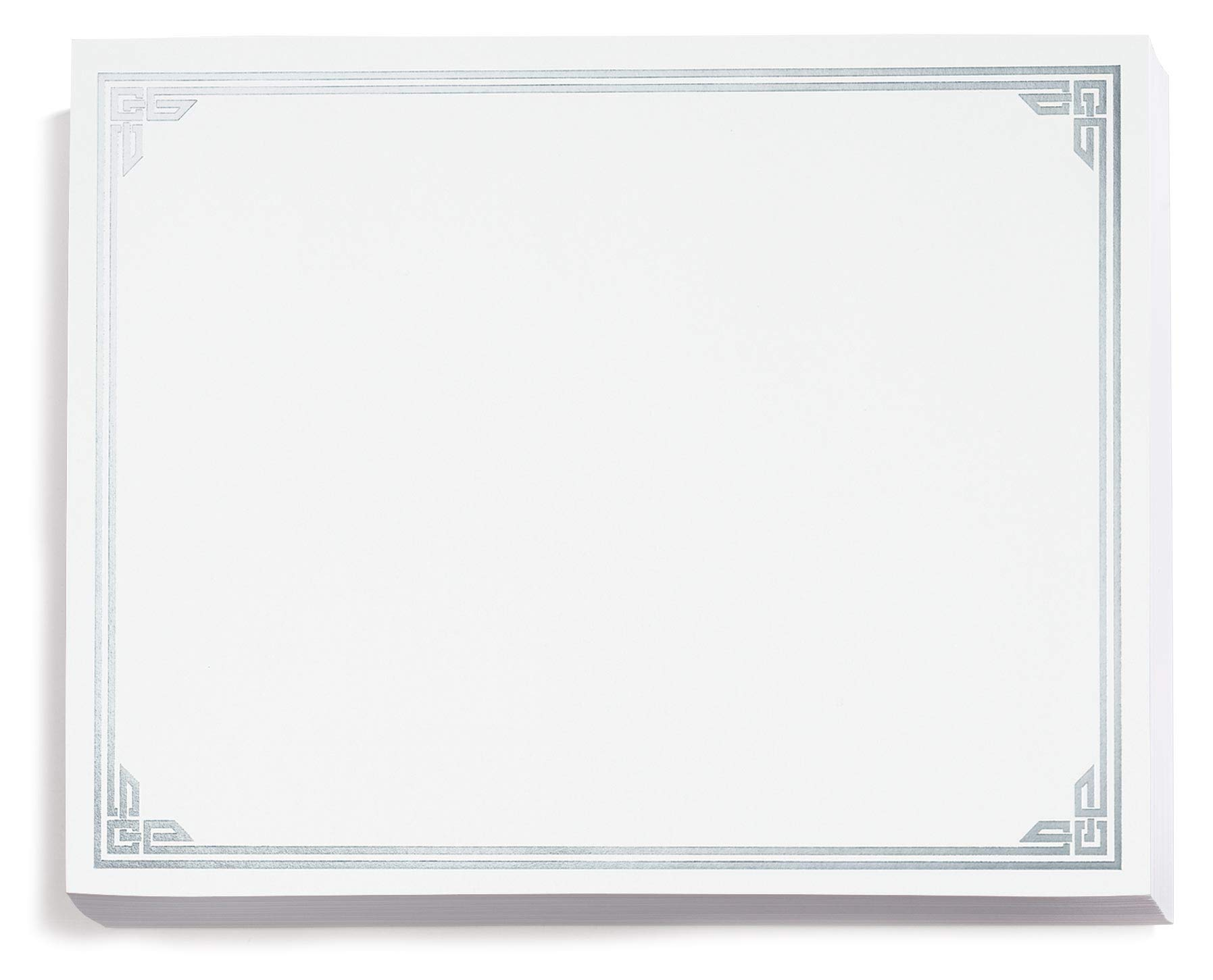 Silver on White Classic Specialty Certificates, 8½ x11, Foil Accents, 50 Count by PaperDirect