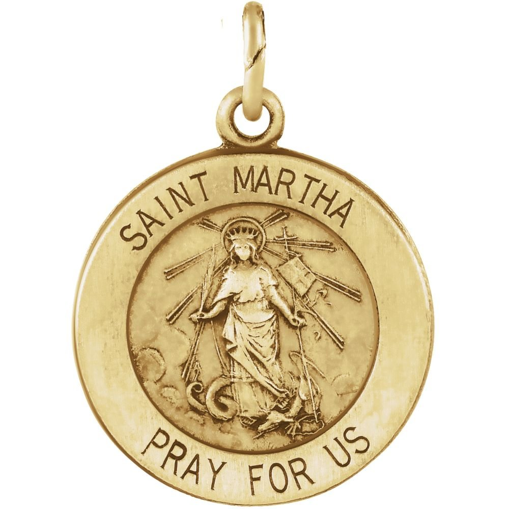 14K Yellow 12mm St. Martha Medal