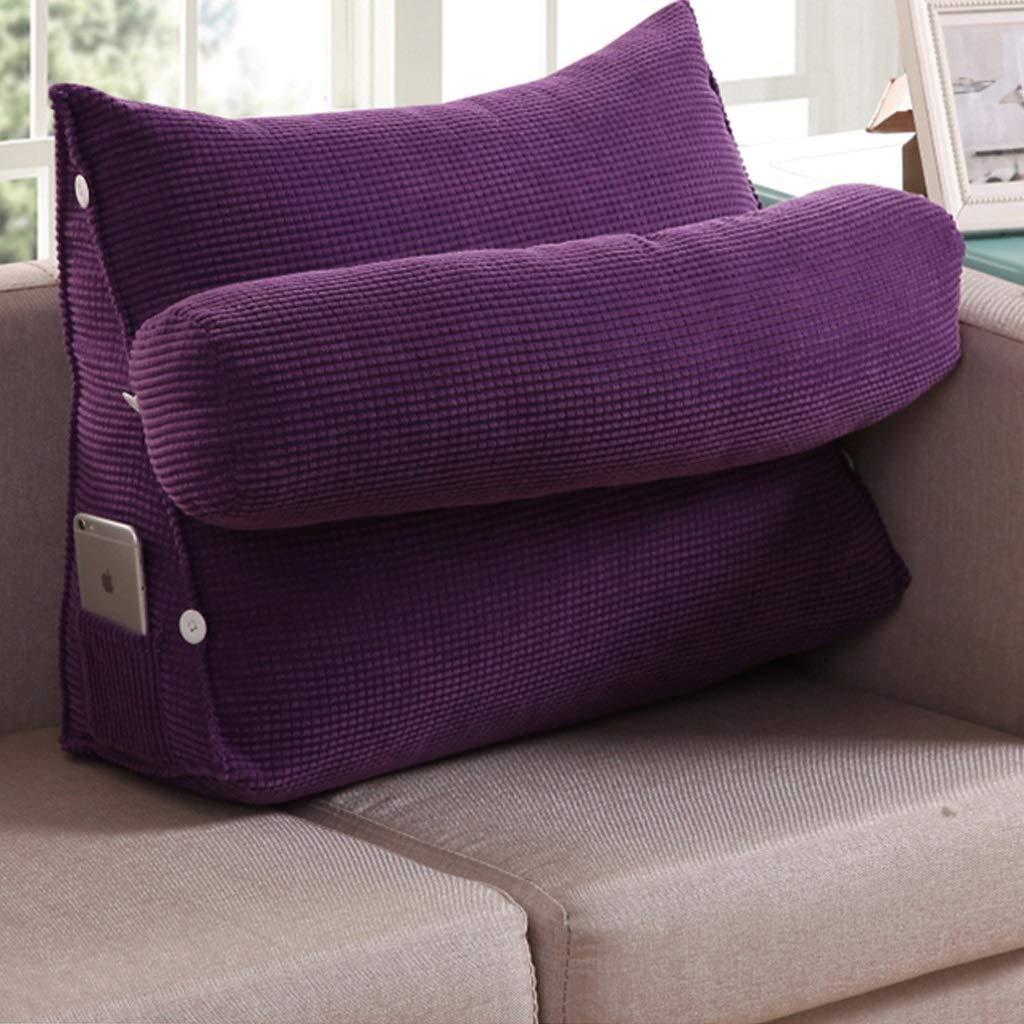 【即納】 ウェッジ枕調節可能なソファトライアングルベッド大きなクッションオフィスウエストバッククッションベッドネック枕ソファ枕クッション (色 60cm : ブラウン ぶらうん, サイズ さいず : B07R4HLZZN Length Length 60cm) B07R4HLZZN Length 60cm 紫の 紫の Length 60cm, エフェクター専門店 ナインボルト:ca394817 --- catconnects.ie