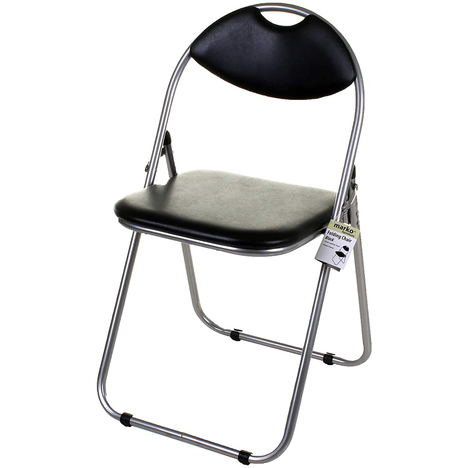 Awesome Marko Furniture Black Pink Faux Leather Folding Chair Padded Seat Back Rest Computer Office 1 Chair Black Pabps2019 Chair Design Images Pabps2019Com