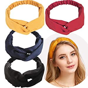 Hair Band Fashion Elastic Headbands Cotton Twisted Cross Head Wrap Hair Band head Accessories For Women Simple Headband Headdress