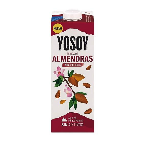 YOSOY Bebida de Almendras Sin Azúcares 1L [caja de 6 x 1L]
