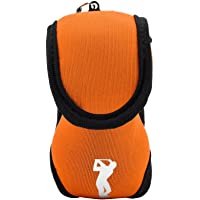 Dilwe Golf Ball Bag Woven Fabric Elastic Small Golf Utility Pouch Golf Balls Holder with Hook and Clip Golf Bag Accessories